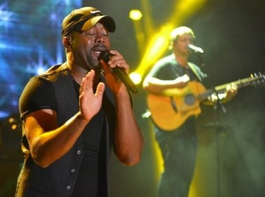 Despite some heavy rain and a lightning delay, country star Darius Rucker performs at the Tuscaloosa Amphitheater on Thursday, Sept. 18, 2014. (Ben Flanagan/al.com)