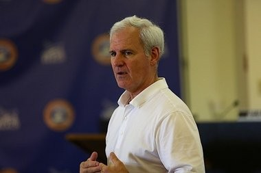 U.S. Rep. Bradley Byrne held a town hall meeting at City Hall in Orange Beach, Ala. on Friday, June 5, 2015. About 50 people showed up to hear Byrne talk about local and national issues. (Brian Kelly/bkelly@al.com)
