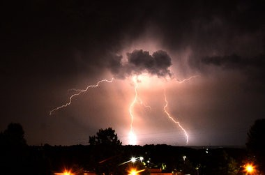Lightning is seen from Vestavia Hills, Ala., Wednesday, June 24, 2015. A heavy thunderstorm south of Birmingham lit the sky with lightning about 10 p.m. (Mark Almond/ malmond@al.com)