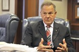 Alabama Chief Justice Roy Moore discusses the U.S. Supreme Court's same-sex marriage ruling Monday, June 29, 2015, in Montgomery, Ala. (Julie Bennett/jbennett@al.com)