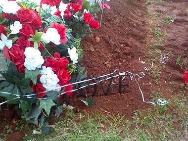 Markia Kendall's grave (Contributed photo)