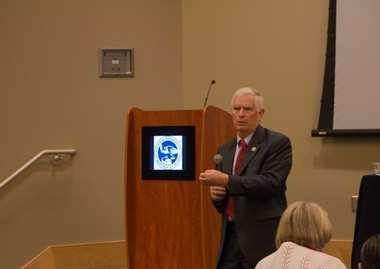 U.S. Rep. Mo Brooks speaks to the National Federation of Republican Women Region 7 meeting on July 25, 2015.