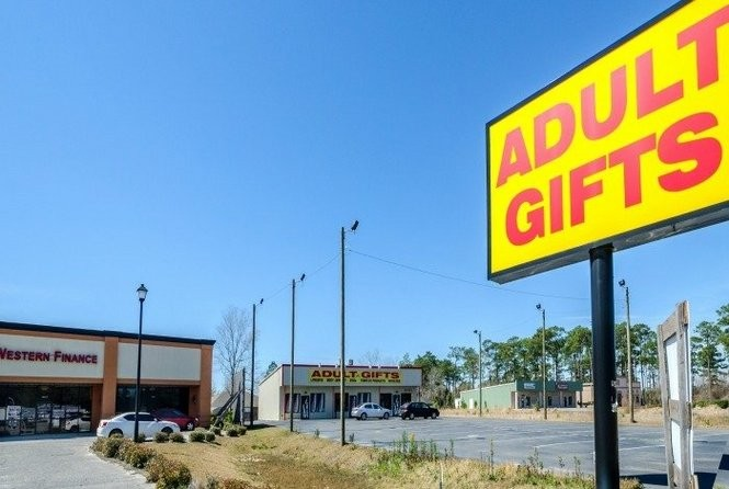 Deborah Stokes opened Kids Space Day Care next to a porn store in Foley. It's illegal in Alabama for a porn store to open next to a day care. But it's not illegal for a day care to open next to a porn shop. (Carmen K. Sisson for Reveal)