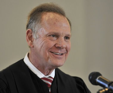Alabama Chief Justice Roy Moore responds Wednesday, April 27, 2016, to complaints made in January by various groups protesting his administrative order explaining the legal status of the Alabama Sanctity of Marriage Act and the Alabama Marriage Protection Act in Montgomery, Ala. (Julie Bennett/jbennett@al.com)