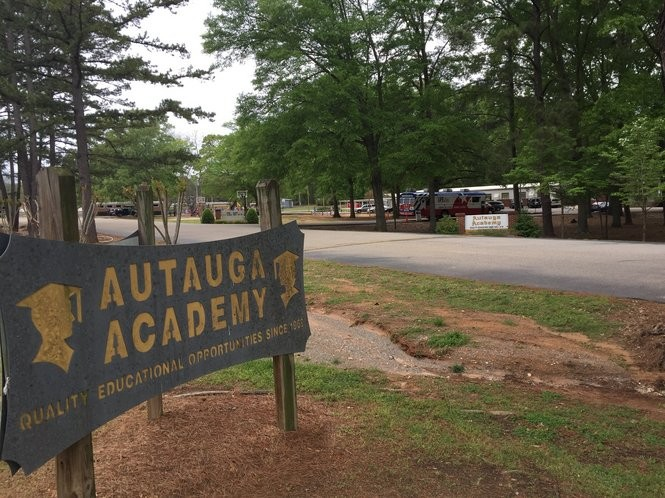 """O.J. Howard attended high school at Autauga Academy, which was originally one of the state's """"segregation academies."""" The school was founded in 1969 during the forced integration of Autauga County schools by the Justice Department and the federal court."""