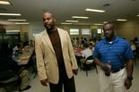 In this file photo from Friday, April 6, 2012, John Young, director of Restoration Youth Academy and William Knott, youth director, show the chow hall. (Press-Register/Victor Calhoun)