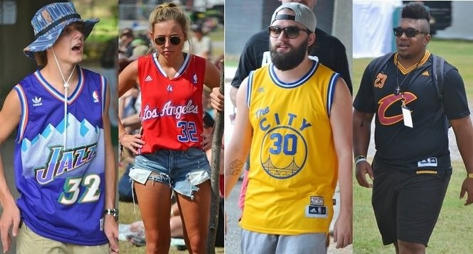 Sloss Fest Fashion  33 NBA  hoopsters  we spotted rocking the jersey ... 051c7c608