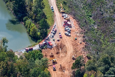 Aerial photos of the response to a leak in Colonial Pipeline's Line 1 in Shelby County taken Sunday, Sept. 18, 2016. (Marty Sellers, sellersphoto.com for AL.com)