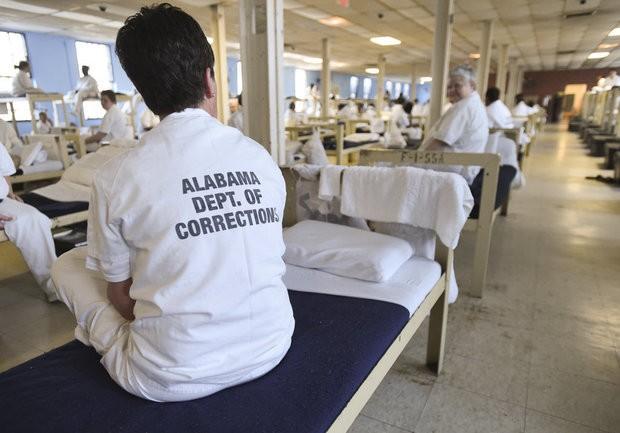 Inmates in the living quarters Monday, Feb. 6, 2017, during a tour of Julia Tutwiler Prison For Women in Wetumpka, Ala. (Julie Bennett/jbennett@al.com)
