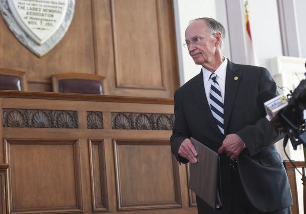 Former Alabama Gov. Robert Bentley makes a formal statement about his resignation at the Capitol Monday, April 10, 2017, in Montgomery, Ala. (Julie Bennett/jbennett@al.com)