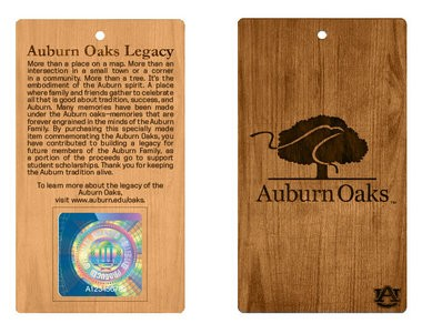 The souvenirs produced from the Toomer's Oaks will include an officially licensed hangtag.
