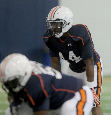 Auburn running back Cameron Artis-Payne prepares for the snap during the Tigers' practice Wednesday. (Julie Bennett/al.com)