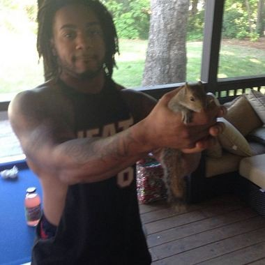 Auburn running back Tre Mason tweeted proof of catching a squirrel in the offseason. (Photo uploaded to Instagram by Tre Mason)