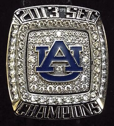 Auburn will be presented its 2013 SEC Championship rings during halftime of the A-Day game.