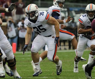 Auburn's Jay Prosch is one of the best lead blockers in the country. (Todd Van Emst/Auburn Media Relations)