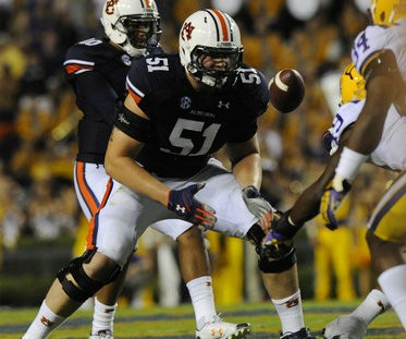 Patrick Miller started nine games at right tackle for Auburn last season. (Todd Van Emst/Auburn Media Relations)