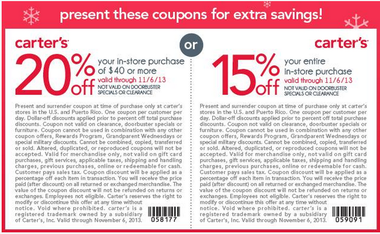 Carter S 20 Off 40 Or 15 Off Entire Purchase Coupons Al Com