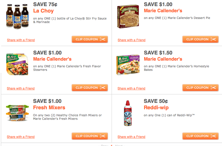 photograph about Marie Callender Coupons Printable referred to as Refreshing ConAgra Printable Discount coupons: La Choy, Marie Callenders