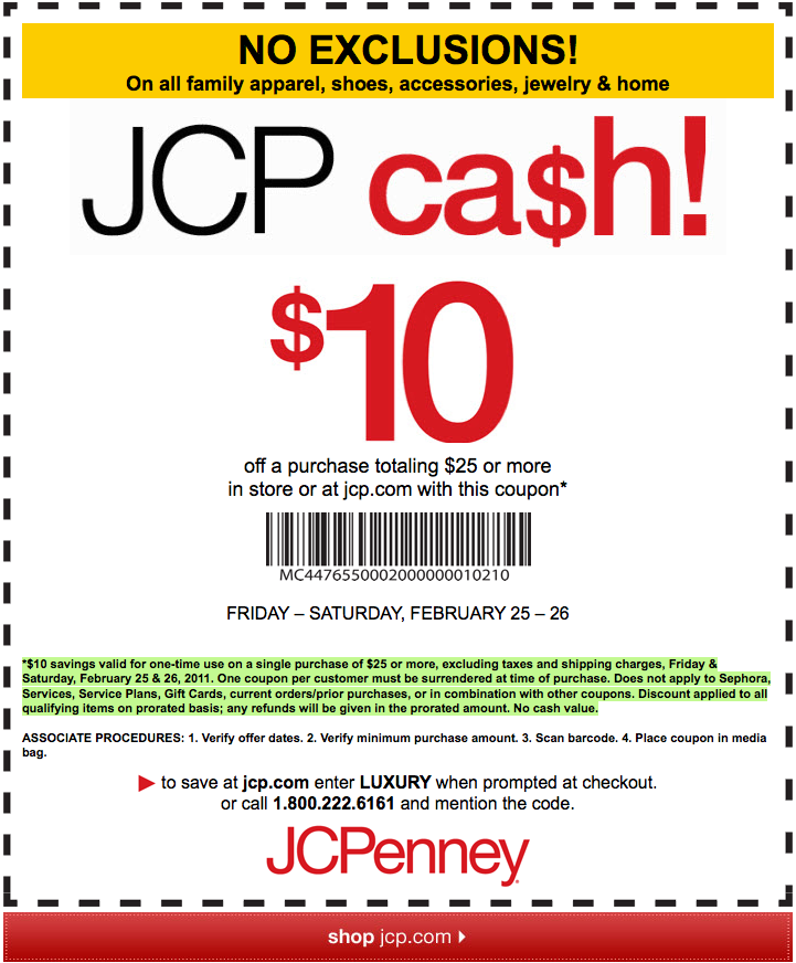 This is a picture of Candid Jcpenney Printable $10 Coupon