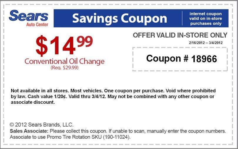 sears automotive coupons printable