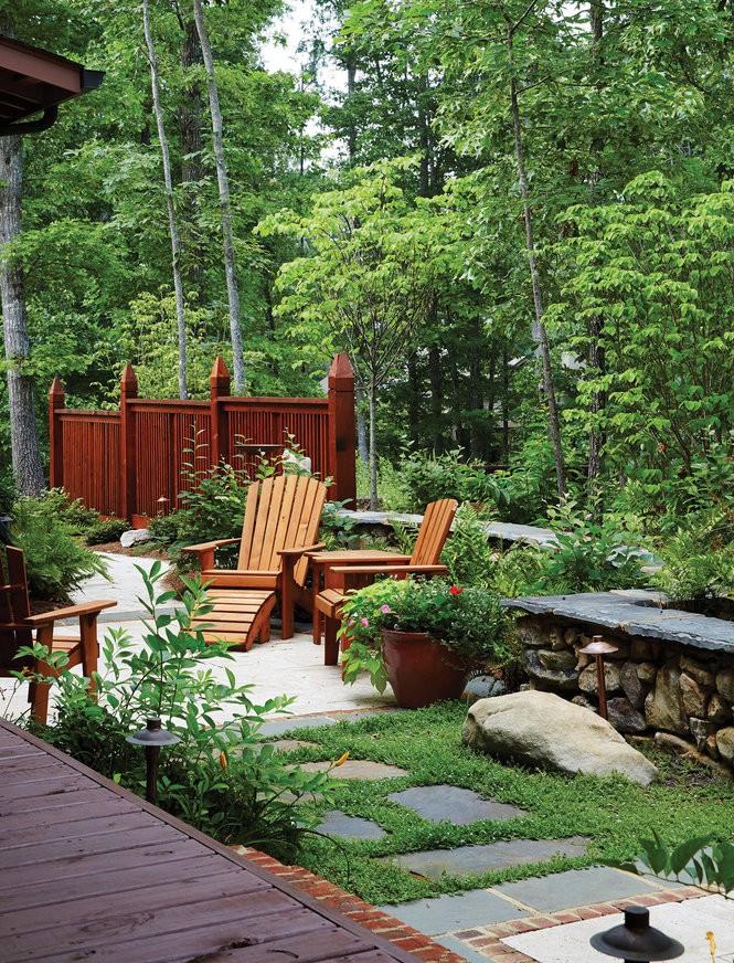 The home's garden.