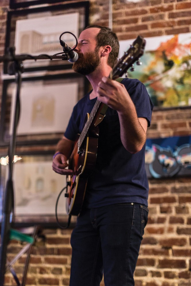 Stewart performing in 2017 at Secret Stages in Birmingham.