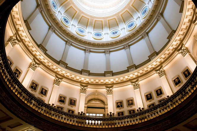 Inside Colorado's immaculate capitol building.