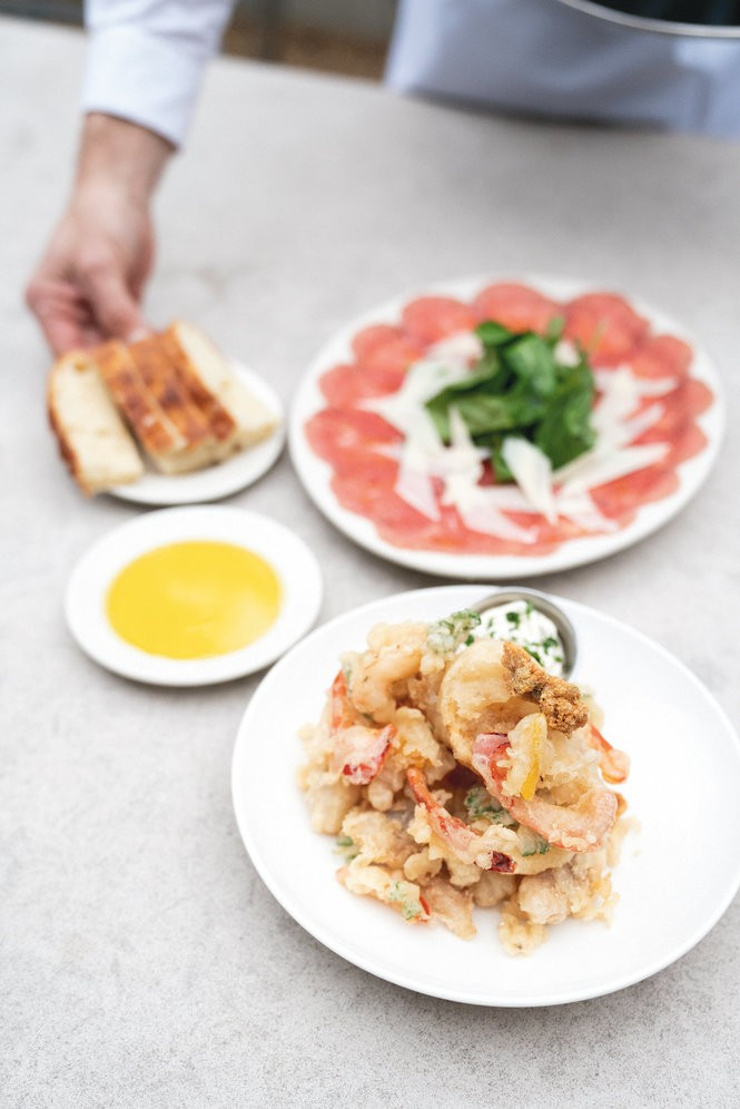 Dishes at Bottega are prepared with local ingredients. Photo by Cary Norton.