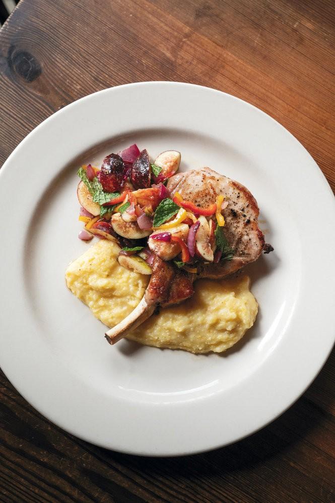 A pork chop dinner entree at Bottega. Photo by Cary Norton.