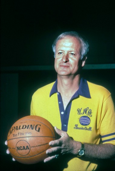 Bill Jones coached the first collegiate team from the state of Alabama to win a national basketball title when his North Alabama squad won the crown in 1974. He is one of eight people to be inducted Saturday into the Alabama Sports Hall of Fame. (UNA Sports Information)