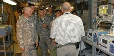Chemical Corps Soldiers from Fort Campbell, Ky. toured the incinerator at Anniston Army Depot in 2009. The incinerator was officially closed this week. (Contributed photo/Army M.B. Abrams)