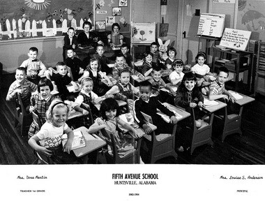 Sonnie Hereford's classroom in 1963. (file)
