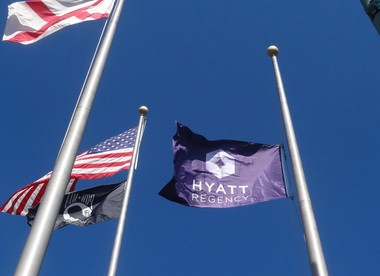 The Hyatt Regency flag is now flying at the Wynfrey Hotel, which officially switched to the brand on Friday. (Special)