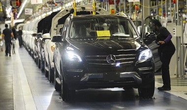 The Mercedes-Benz plant in Tuscaloosa County is the subject of an organizing campaign by the United Auto Workers union. (Joe Songer/jsonger@al.com)