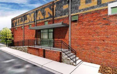 The Design Review Committee approved the first phase of the Tillman-Levenson Annex renovation to make way for a coffee roaster and food truck catering kitchen. (SAS Architects)