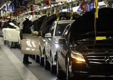 There's a UAW organizing campaign underway at the Mercedes-Benz plant in Tuscaloosa County, which kicked off Alabama's auto industry 20 years ago. (File)