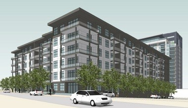 Apartments will encircle the parking deck on 14th Avenue. (Special)