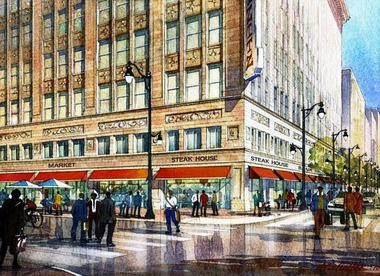 Bayer Properties will invest more than $59 million renovating the Pizitz Building into apartments, retail and restaurant space. (contributed)