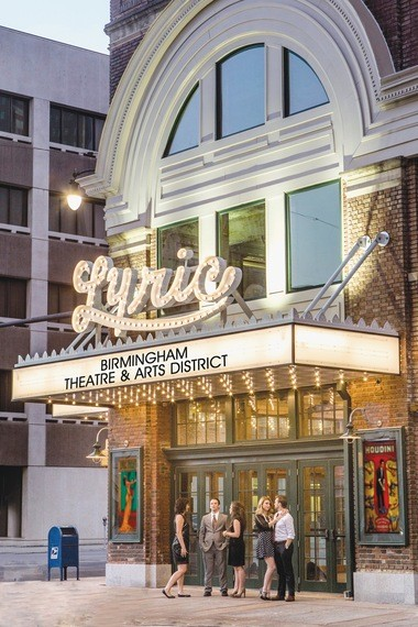 A rendering shows a completed exterior of the Lyric Theatre. (contributed)