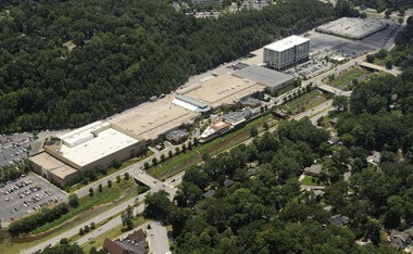 Brookwood Village, as seen in this 2010 aerial photo, includes the mall, office building and retail center. A Target store has since been added to the site. (Joe Songer/AL.com)