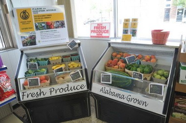 REV Birmingham's Urban Food Project delivers Alabama grown produce to area restaurants and reaches into some food deserts offering fresh vegetables and fruits. A farm to corner store market set up inside the City Meats location in Woodlawn. (Frank Couch/fcouch@al.com)