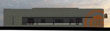 The 14th Street side of the future beer Engineers brewery, taproom and restaurant will face Regions Field ballpark and have windows for the restaurant. (bDot Architecture)