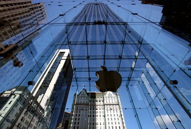The entrance to the Apple store is shown on New York's Fifth Ave. Tuesday, Aug. 12, 2008. Even as iPhone griping rages online, it's looking like Apple's reputation will come out unscathed. (AP Photo/Mark Lennihan)
