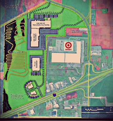 This map shows the likely layout of Polaris' new $142 million all-terrain vehicle factory in Huntsville-annexed Limestone County. The 505-acre property border I-565 just west of Greenbrier Road. (Courtesy City of Huntsville)