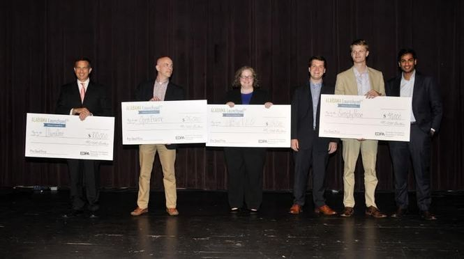The winners of the latest round of the Alabama Launchpad competition. (Special to AL.com/Economic Development Partnership of Alabama)