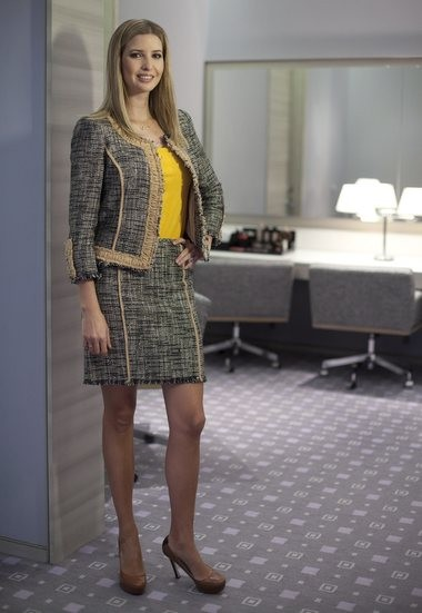 In this March 6, 2015 file photo, Ivanka Trump models an outfit following an interview to promote her clothing line in Toronto. Nordstrom said it will stop selling Ivanka Trump clothing and accessories. The Seattle-based department store chain said the decision was based on the sales performance of the first daughter's brand. (Pawel Dwulit/The Canadian Press via AP)