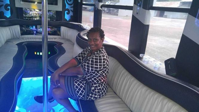 """""""I don't consider this work because I enjoy what I'm doing, and it's a different experience every single time,"""" says Mary Taylor of her Elegant Knights Limo-Party Bus venture."""