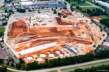 An aerial photo of the MidCity Huntsville site in Huntsville taken May 20, 2017. (Marty Sellers | sellersphoto.com)