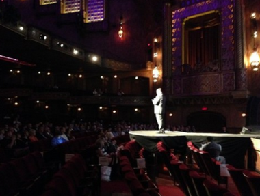 The imerge Innovation Awards at the Alabama Theatre featured a band, runway and speeches by the winners on Aug. 23, 2017.