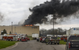 In this May 2, 2018, file photo, emergency personnel respond to a fire at Meridian Magnesium Products of America in Eaton Rapids, Mich.